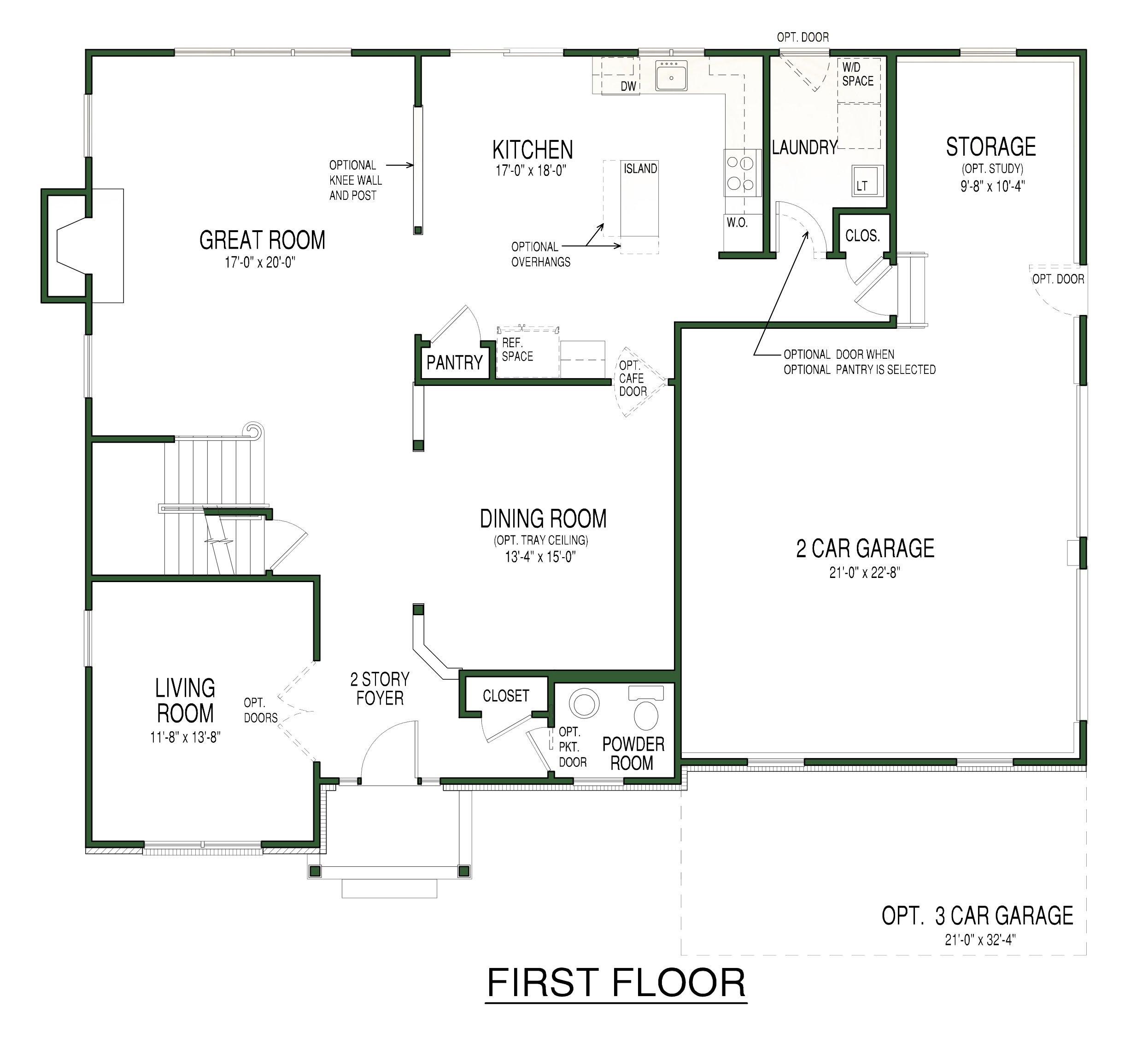 Arlington Plan First Floor