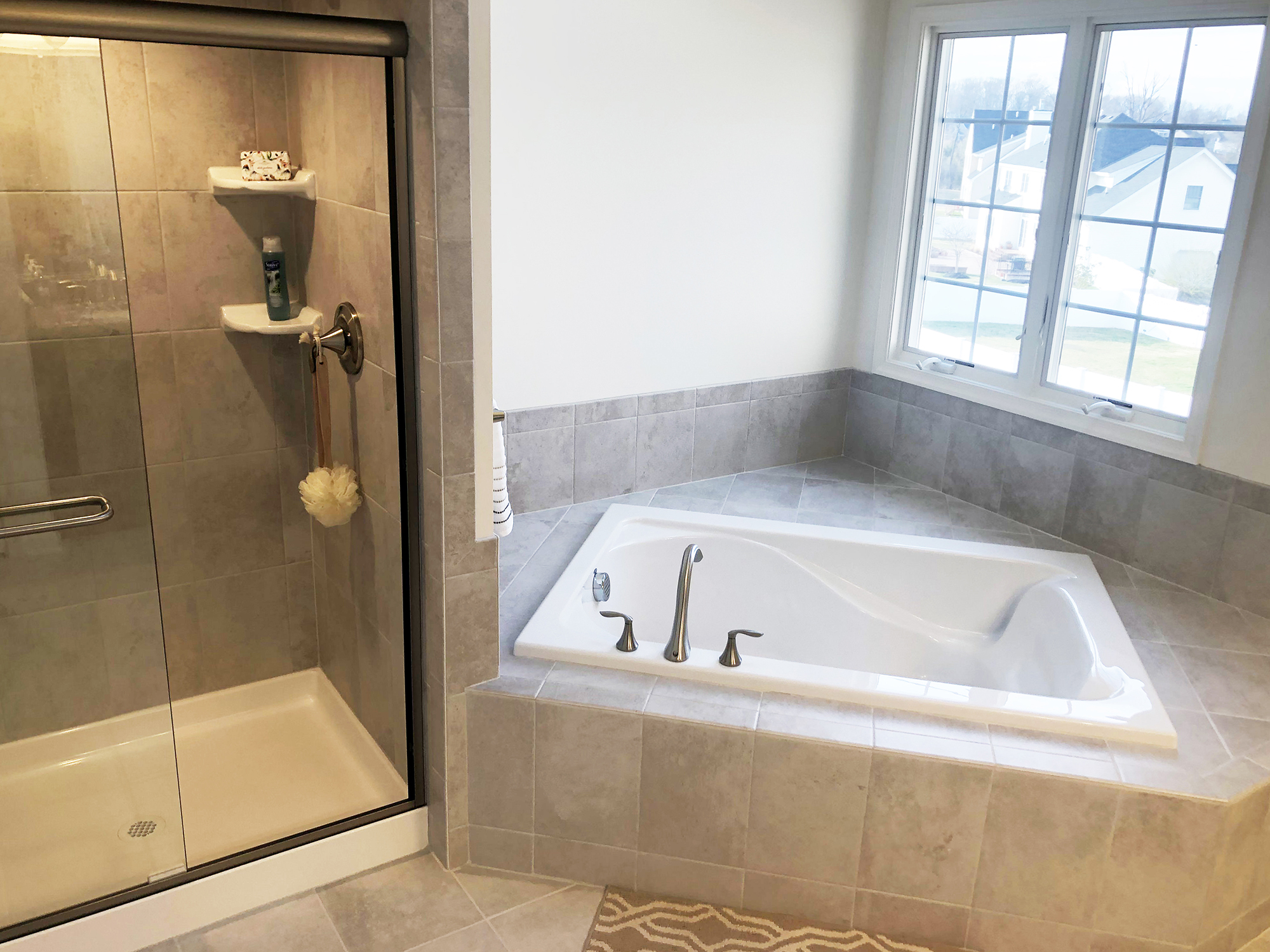 Master Bedroom Tub & Shower