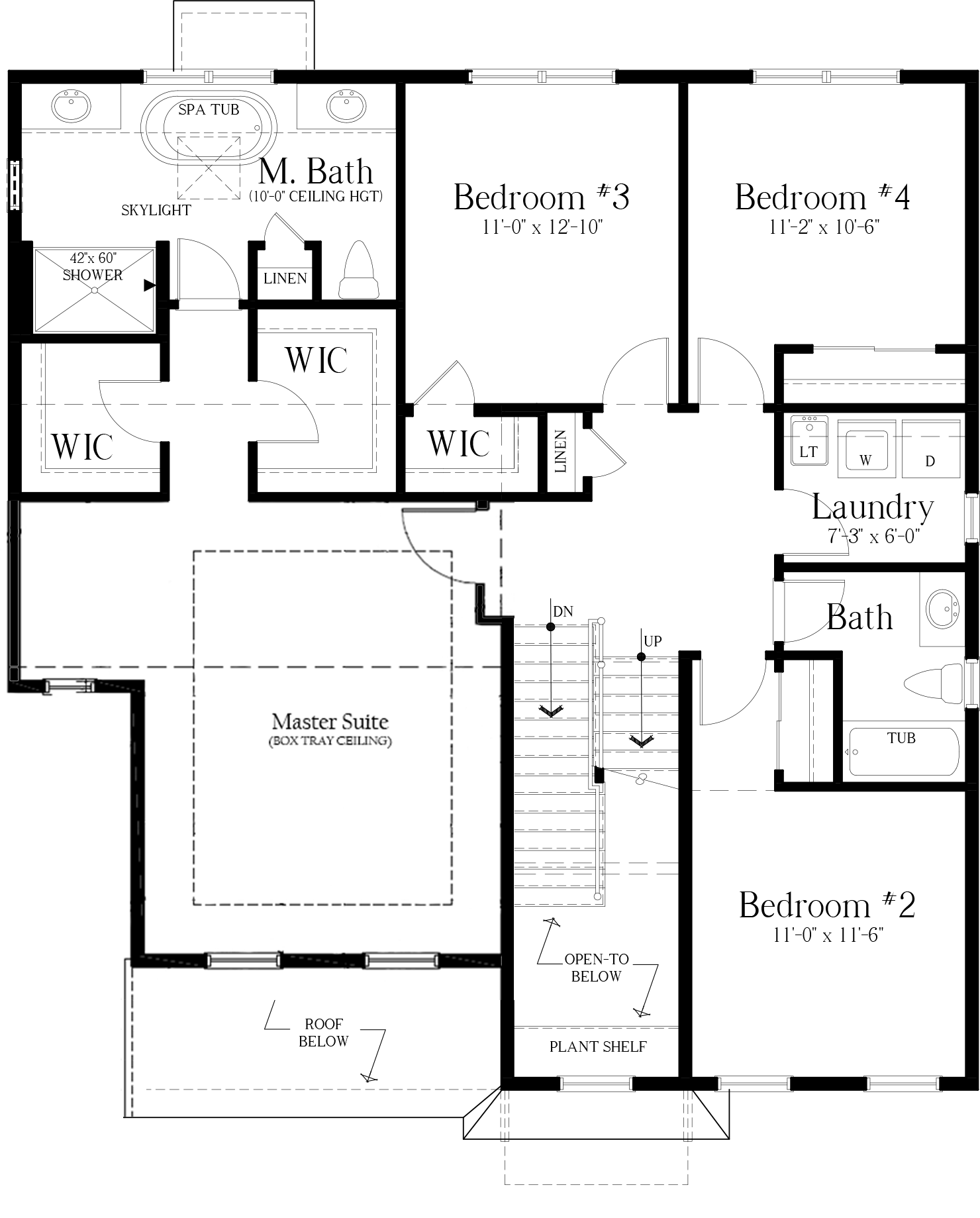 Oversized 1-Car Garage Full Plan 2nd floor
